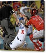 Los Angeles Angels Of Anaheim V Los Canvas Print