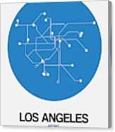 San Francisco Blue Subway Map Canvas Print