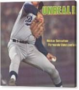 Los Angeles Dodgers Fernando Valenzuela... Sports Illustrated Cover Canvas Print