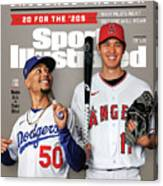 Los Angeles Dodgers Mookie Betts And Los Angeles Angels Sports Illustrated Cover Canvas Print