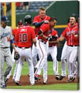 Los Angeles Dodgers V Atlanta Braves Canvas Print