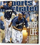 Los Angeles Dodgers V Milwaukee Brewers Sports Illustrated Cover Canvas Print