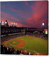 Los Angeles Dodgers V San Francisco Canvas Print