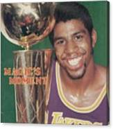 Los Angeles Lakers Earvin Magic Johnson, 1980 Nba Finals Sports Illustrated Cover Canvas Print