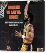 Los Angeles Lakers Kareem Abdul-jabbar, 1980 Nba Western Sports Illustrated Cover Canvas Print