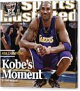 Los Angeles Lakers Kobe Bryant, 2009 Nba Finals Sports Illustrated Cover Canvas Print