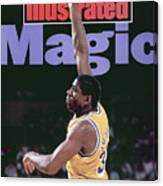 Los Angeles Lakers Magic Johnson, 1990 Nba Western Sports Illustrated Cover Canvas Print