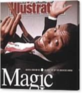 Los Angeles Lakers Magic Johnson Sports Illustrated Cover Canvas Print