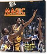 Los Angeles Lakers Magic Johnson... Sports Illustrated Cover Canvas Print