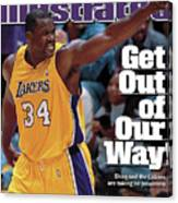 Los Angeles Lakers Shaquille Oneal, 2001 Nba Western Sports Illustrated Cover Canvas Print