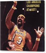 Los Angeles Lakers Wilt Chamberlain, 1972 Nba Finals Sports Illustrated Cover Canvas Print
