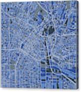 Los Angeles Map Retro 5 Canvas Print