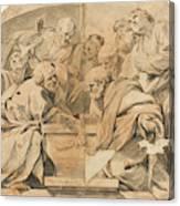 Los Apostoles Ante El Sepulcro Vacio De La Virgen  Canvas Print