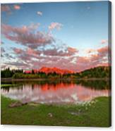 Lost Lake Sunset Canvas Print