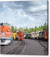 Lotsa Locomotives Canvas Print