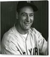 Lou Gehrig Dugout Portrait Canvas Print