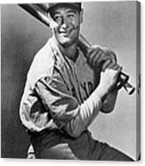Lou Gehrig Holding Three Baseball Bats Canvas Print
