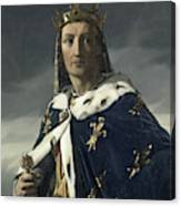 Louis Viii, King Of France Canvas Print
