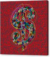 Louis Vuitton Dollar Sign-7 Canvas Print