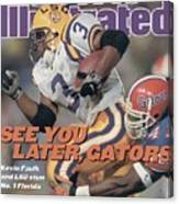 Louisiana State University Kevin Faulk Sports Illustrated Cover Canvas Print