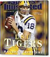 Louisiana State University Qb Matt Mauck Sports Illustrated Cover Canvas Print