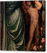 Love And Death, C1877, 1917 Canvas Print
