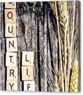 Love Country Life Canvas Print