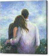 Lovers Looking Forward Brunettes Canvas Print