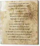Love's Plight Canvas Print