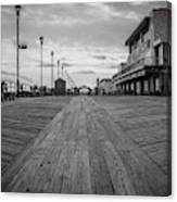 Low On The Boardwalk Canvas Print