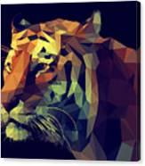 Low Poly Design. Tiger Illustration Canvas Print