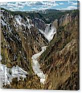 Lower Falls In Yellowstone Canvas Print
