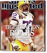 Lsu Glenn Dorsey, 2008 Allstate Bcs National Championship Sports Illustrated Cover Canvas Print