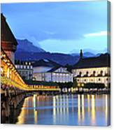 Lucerne At Dusk Canvas Print