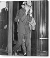 Lucky Luciano Entering Courthouse Canvas Print