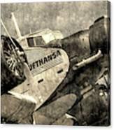 Lufthansa Junkers Ju 52 Vintage Canvas Print