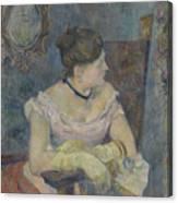 Madame Mette Gauguin In Evening Dress Canvas Print