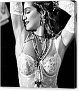 Madonna During A Performance At Mtv Canvas Print