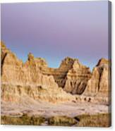magenta Dawn in the Badlands  Canvas Print