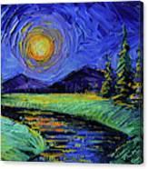 Magic Night - Detail 1 - Fantasy Landscape Canvas Print