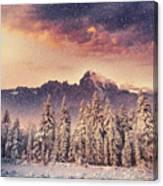 Magical Winter Landscape, Background Canvas Print