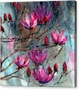 Magnolia At Midnight Canvas Print