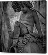 Magnolia Child Statue Canvas Print