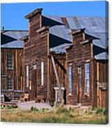 Main Street Buildings At Bodie Historic Canvas Print
