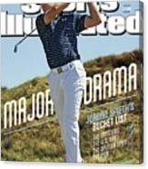 Major Drama Jordan Spieths Bucket List Sports Illustrated Cover Canvas Print