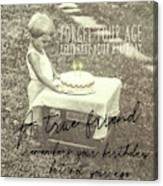 Make A Birthday Wish Quote Canvas Print