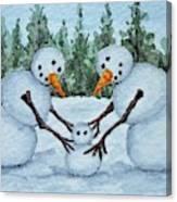 Making A Snowbaby Canvas Print