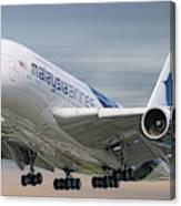 Malaysia Airlines Airbus A380-841 Canvas Print