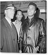 Malcolm X Left With Cassius Marcellus Canvas Print