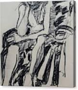 Male Nude I Canvas Print